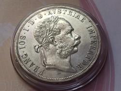 1878 ezüst 2 Florin,gyönyörű karmentes darab,Nagyon Ritka!!!