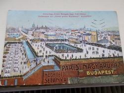 Képeslap Budapest, 1915..Parisi-Nagy-Áruhaz,Nagy Tetö Sétánya