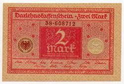 Németország 2 német Márka, 1920, UNC