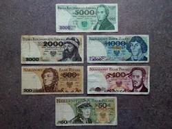 6 db-os lengyel zloty sor