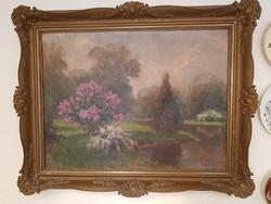 Olgyay Ferenc (1872-1939) Virágzó tavasz a folyóparton