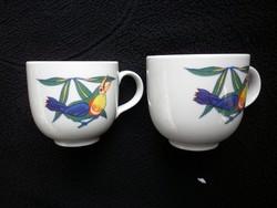 Retró Alföldi madárkás csészepár