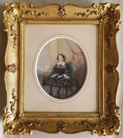 Theer, Robert (1808-1863): Előkelő hölgy portréja, 1847 Portrait of an Aristocratic Woman