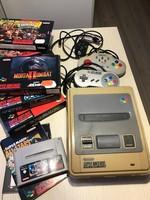 Super Nintendo Nintendo játék, a '80-as évek szenzációja! 7 db játék kazettával!!