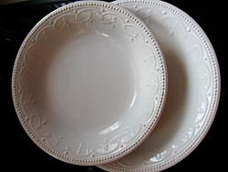 GRÁNIT barokkos, gyöngyös, girlandos mély és lapos tányér