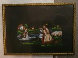 Festmény fekete alappal III.