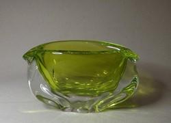 Cseh üveg asztalközép ,váza gyönyörű