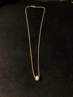 Arany nyakék köves gömbbel