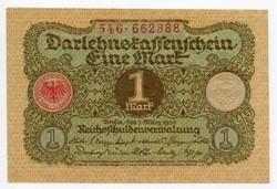 Németország 1 német Márka, 1920, majdnem UNC