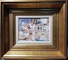 Csodálatos akvarell gyönyörű keretben