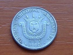 BURUNDI 1 FRANC 1980 ALU. #