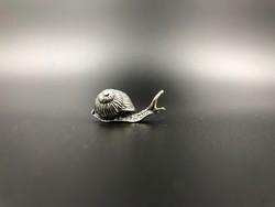 Csiga miniatűr 800-as ezüst