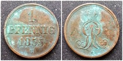 1 pfenning 1855 B
