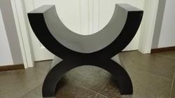 Art deco etrüszk, fekete design ülőke