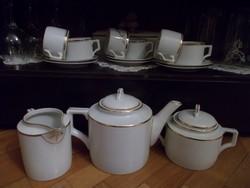 Csoda szép elegáns  zsolnay teás készlet