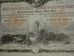 JÓSZÍV-EGYESÜLET SORSJEGY 2 FT-RÓL  4 DB!!!  1888  SORSZÁMKÖVETŐK!!!