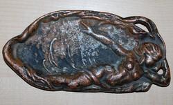 Szecessziós korszakból antik hamutartó 1900-as évek.