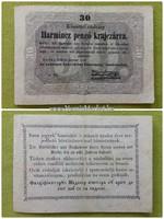 Harmincz pengő krajczárra 1849