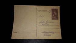 Levelezőlap 1941 10 f díjjegyes