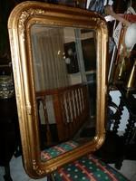 Gyönyörű antik nagy biedermeier falitükör az eredeti csiszolt üveggel - igény esetén új tükörlappal