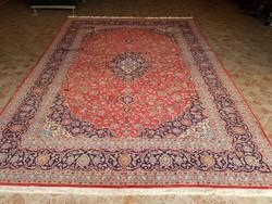 Kashan kézi csomózású Iráni szőnyeg