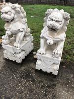 Márvány szobor ,kutya,kínai kutya