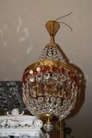 Színes kristályfüggős kosaras csillár