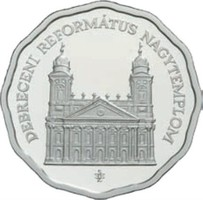 Debreceni Református Nagytemplom ezüst 5000 Ft 31,46 gramm 0,925 bu