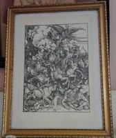 Nagyméretű Albrecht Dürer fametszet