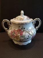 Zsolnay pillangós teás cukortartó 0,5l fedővel, hibátlan, új!