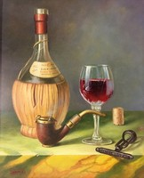Szepesi Andor: Csendélet borosüveggel