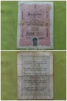 Kossuth bankó 2 forint 1848