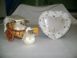 Esküvői fogat dísztárgy és képkeret