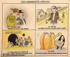 AKIK A GABONAFEJTÉST HÁTRÁLTATJÁK 4-es karikatúra az 50-es évekből