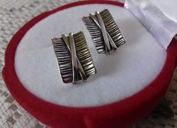 Gyönyörű kézműves  antik 925 ezüst fülbevaló