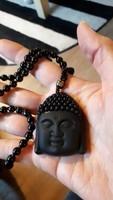 Obszidián buddha talizmán