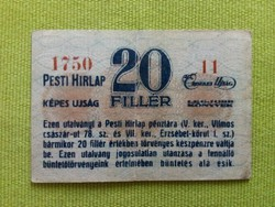 20 fillér Pesti Hírlap /id2397/