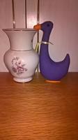 18575E Aquincum porcelán virágmintás váza