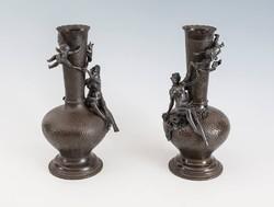 XIX. századi szecessziós figurális vázapár