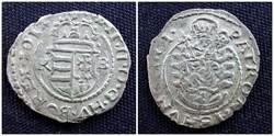 II. Mátyás ezüst dénár 1612 KB