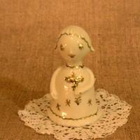 Witeg-Köporc porcelán art deco angyalka aranyozott festéssel