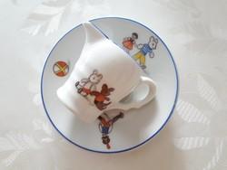 Retro mesemintás porcelán kis kiöntő
