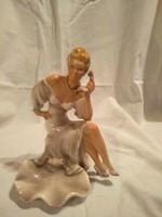 Olasz porcelán nipp - kézzel festett, kiváló állapotban