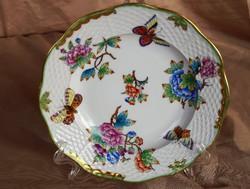 Herendi Viktória VBO antik desszert tányér 1930 körül
