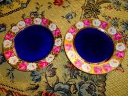 2 db Eichwald  kézzel festett rózsa mintával  porcelán  tányér