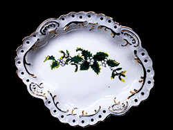 Aquincumi fagyöngy mintás áttört gyűrűtartó porcelán