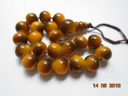 Tigrisszem gyöngy mala-21 szemes-guru gyönggyel-18 cm