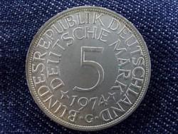 NSZK ezüst 5 Márka 1974 G