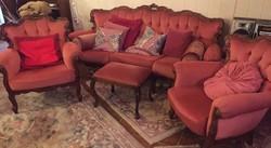 Antik barok 4 darabos ülőgarnitura