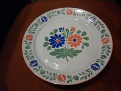 nagyméretű alföldi porcelán falitányér tányér